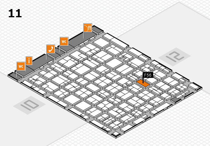 MEDICA 2016 Hallenplan (Halle 11): Stand F56