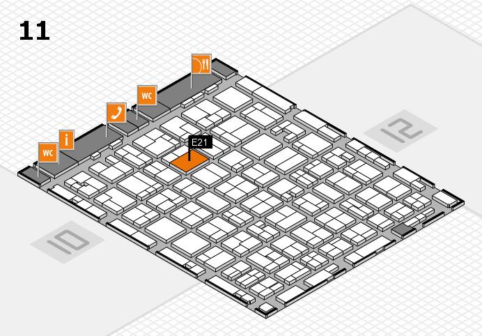 MEDICA 2016 hall map (Hall 11): stand E21