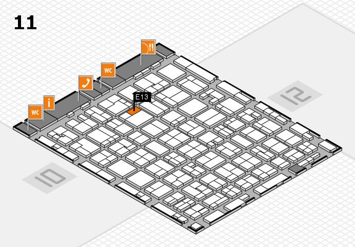 MEDICA 2016 hall map (Hall 11): stand E13