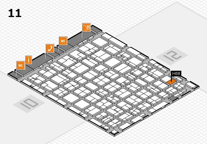 MEDICA 2016 hall map (Hall 11): stand H68