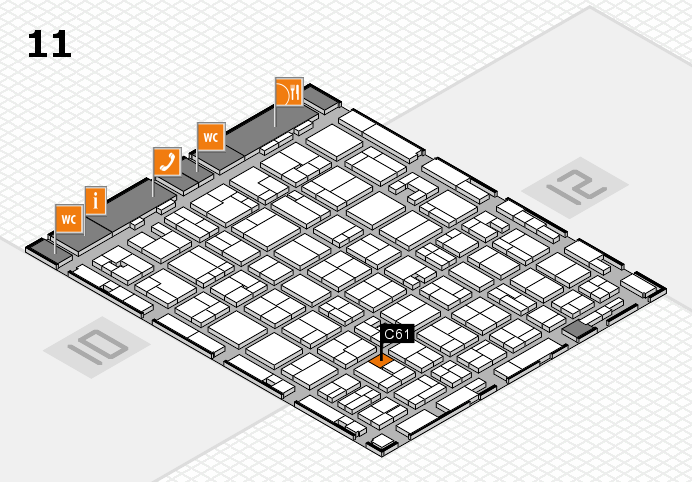MEDICA 2016 hall map (Hall 11): stand C61