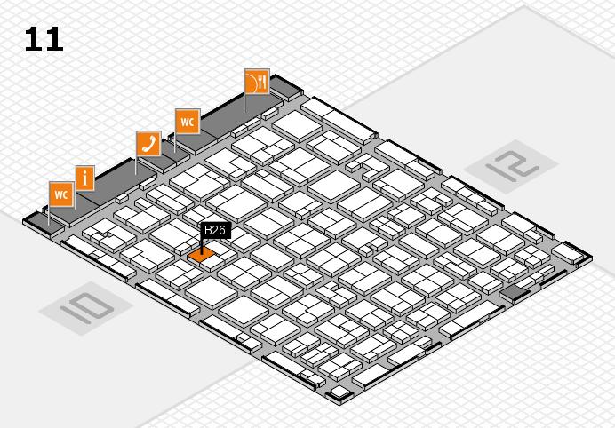 MEDICA 2016 hall map (Hall 11): stand B26