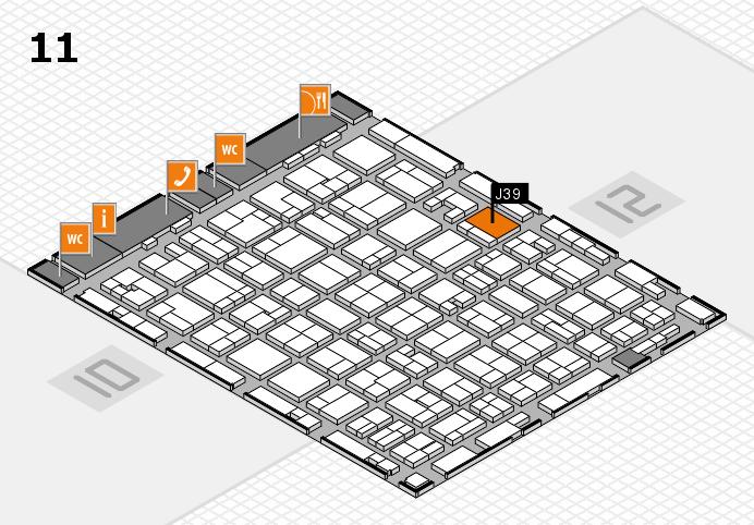 MEDICA 2016 hall map (Hall 11): stand J39