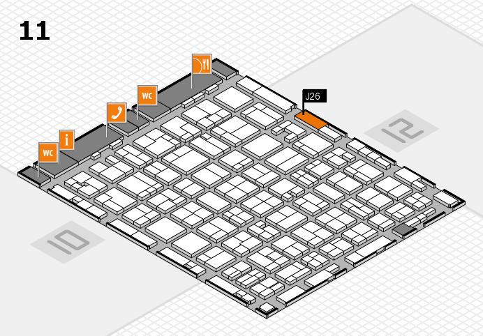 MEDICA 2016 hall map (Hall 11): stand J26