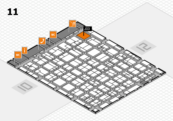 MEDICA 2016 hall map (Hall 11): stand J03