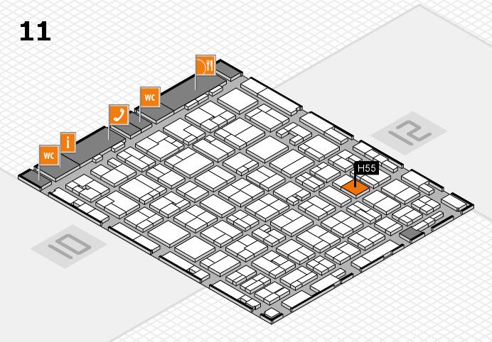 MEDICA 2016 hall map (Hall 11): stand H55