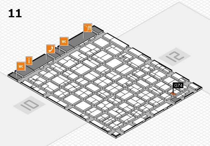 MEDICA 2016 hall map (Hall 11): stand G74