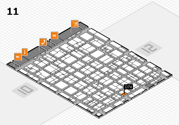 MEDICA 2016 hall map (Hall 11): stand D74