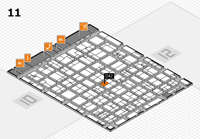 MEDICA 2016 hall map (Hall 11): stand D42