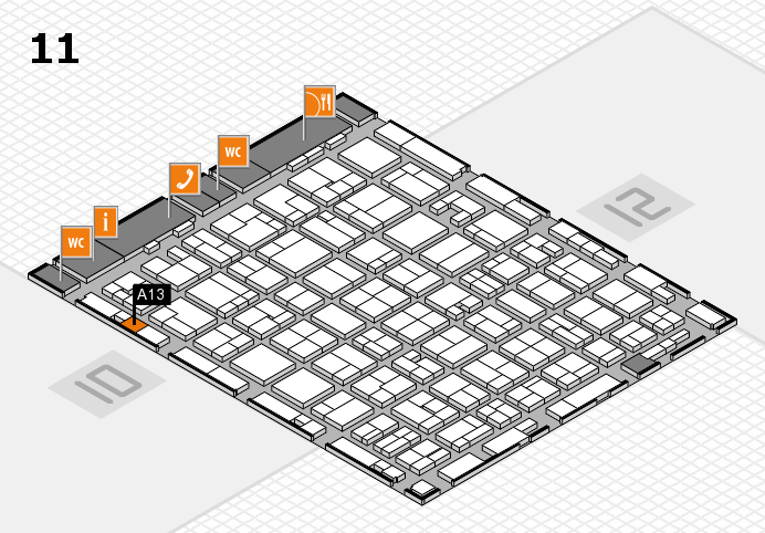 MEDICA 2016 hall map (Hall 11): stand A13
