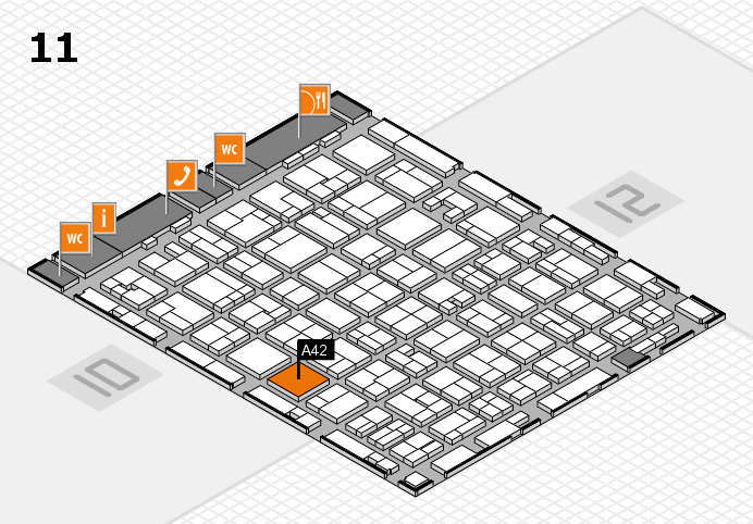 MEDICA 2016 hall map (Hall 11): stand A42