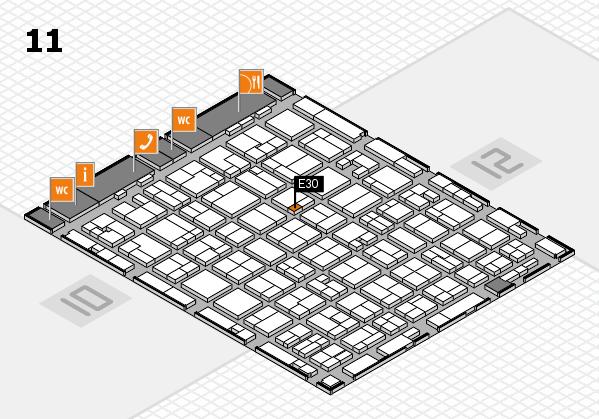MEDICA 2016 hall map (Hall 11): stand E30