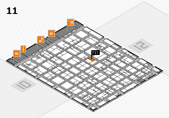 MEDICA 2016 Hallenplan (Halle 11): Stand F31