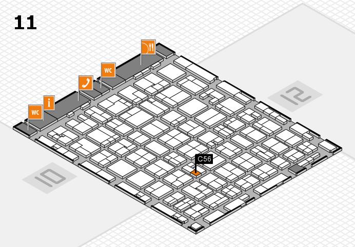 MEDICA 2016 hall map (Hall 11): stand C56