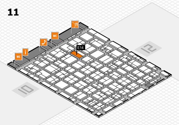 MEDICA 2016 hall map (Hall 11): stand E14