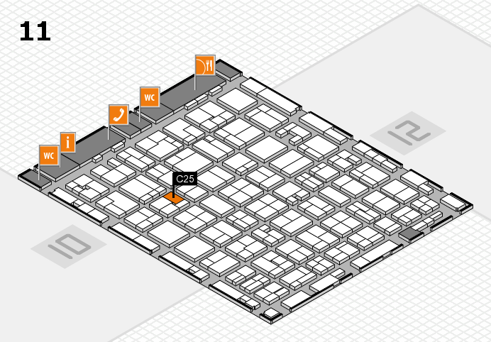 MEDICA 2016 hall map (Hall 11): stand C25