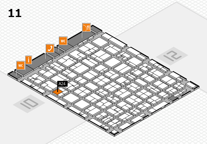 MEDICA 2016 hall map (Hall 11): stand A24