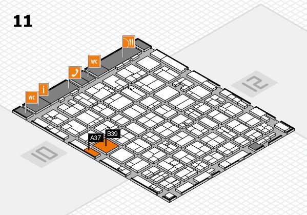 MEDICA 2016 hall map (Hall 11): stand A37, stand B39