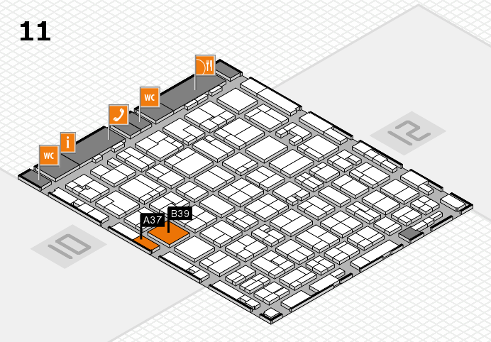 MEDICA 2016 hall map (Hall 11): stand A37, stand B39