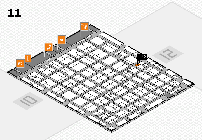 MEDICA 2016 hall map (Hall 11): stand H42
