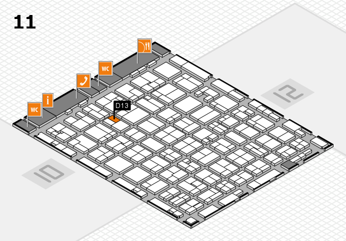 MEDICA 2016 hall map (Hall 11): stand D13