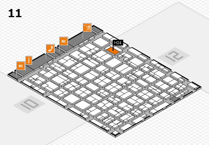 MEDICA 2016 hall map (Hall 11): stand H24