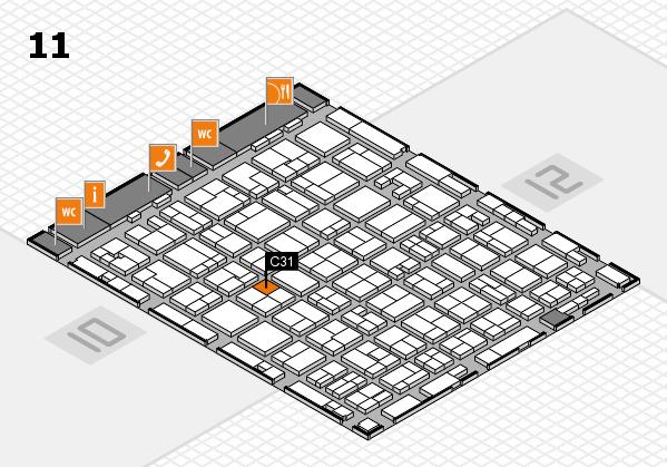 MEDICA 2016 hall map (Hall 11): stand C31