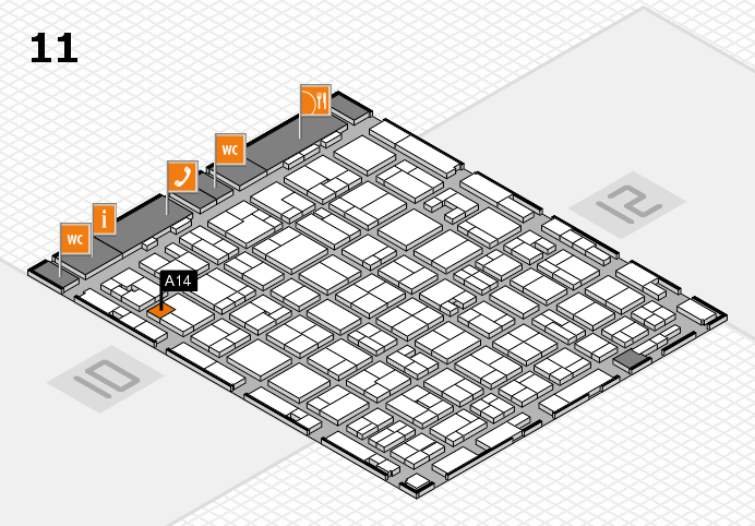 MEDICA 2016 hall map (Hall 11): stand A14