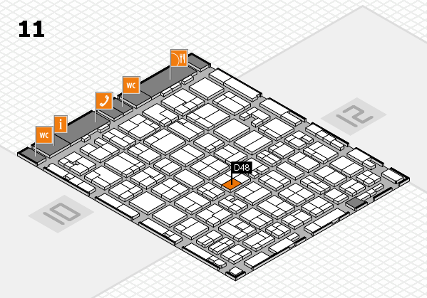 MEDICA 2016 hall map (Hall 11): stand D48