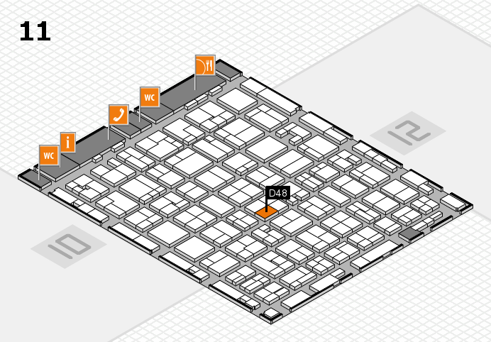MEDICA 2016 hall map (Hall 11): stand D48
