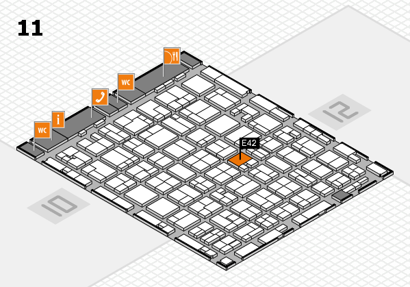 MEDICA 2016 hall map (Hall 11): stand E42