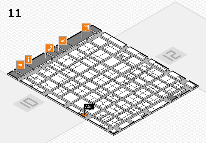 MEDICA 2016 hall map (Hall 11): stand A55