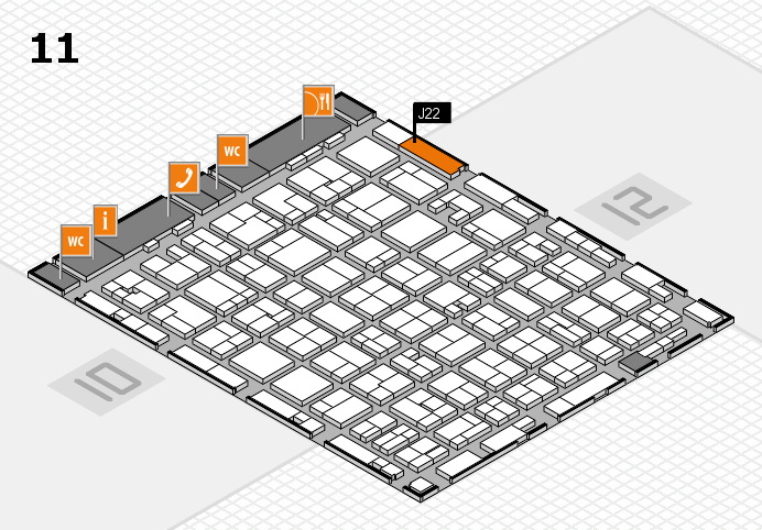 MEDICA 2016 hall map (Hall 11): stand J22
