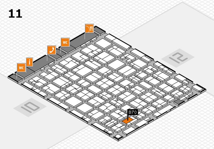 MEDICA 2016 hall map (Hall 11): stand B70