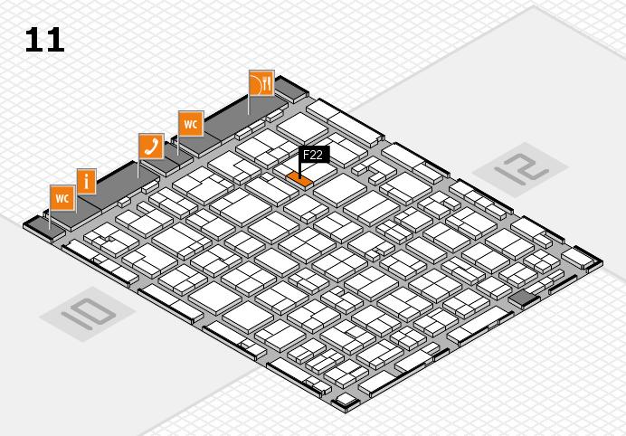 MEDICA 2016 hall map (Hall 11): stand F22