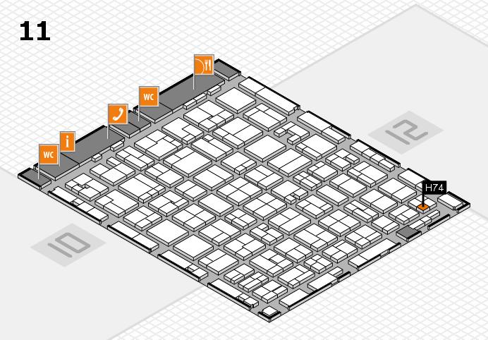MEDICA 2016 hall map (Hall 11): stand H74