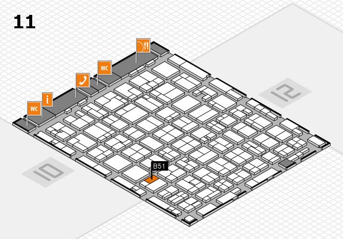 MEDICA 2016 hall map (Hall 11): stand B51