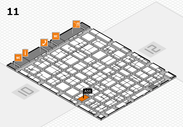 MEDICA 2016 hall map (Hall 11): stand A56