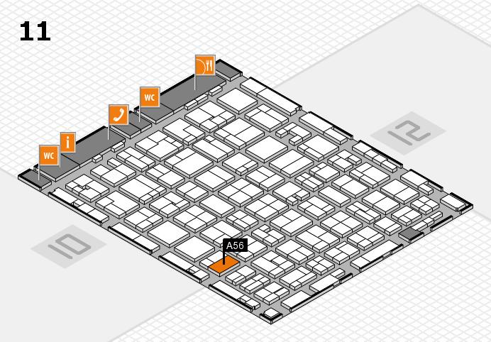 MEDICA 2016 hall map (Hall 11): stand A56