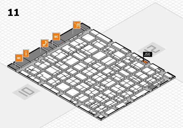 MEDICA 2016 hall map (Hall 11): stand J56