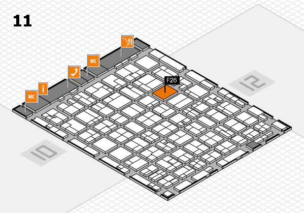 MEDICA 2016 hall map (Hall 11): stand F26