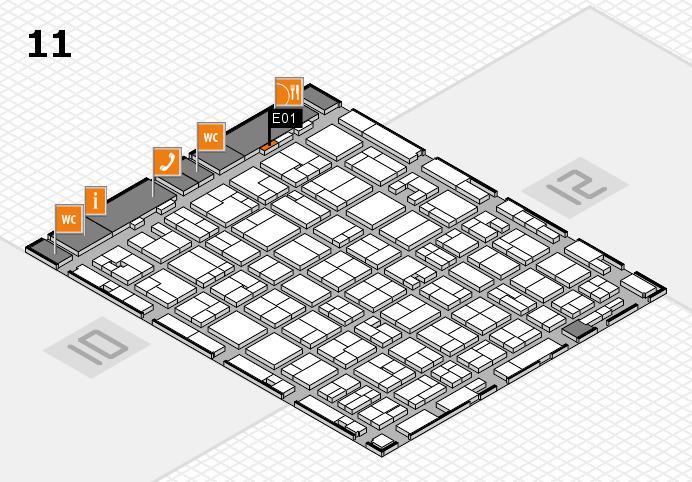 MEDICA 2016 hall map (Hall 11): stand E01