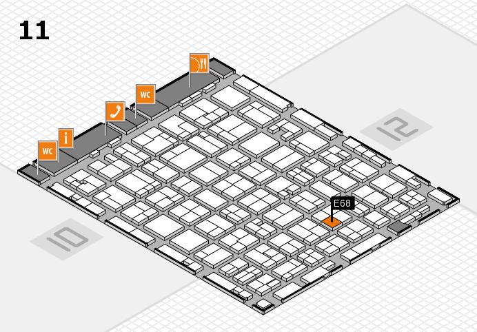 MEDICA 2016 hall map (Hall 11): stand E68