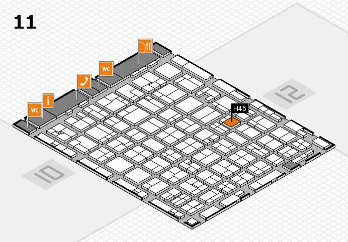 MEDICA 2016 hall map (Hall 11): stand H45
