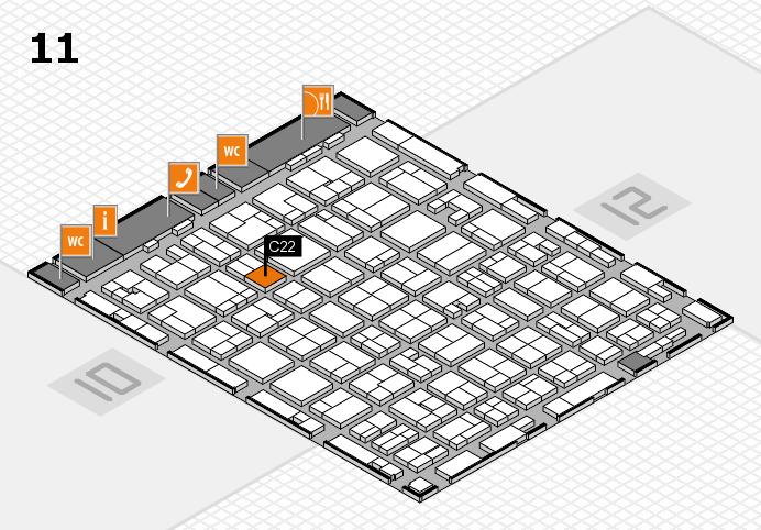 MEDICA 2016 hall map (Hall 11): stand C22