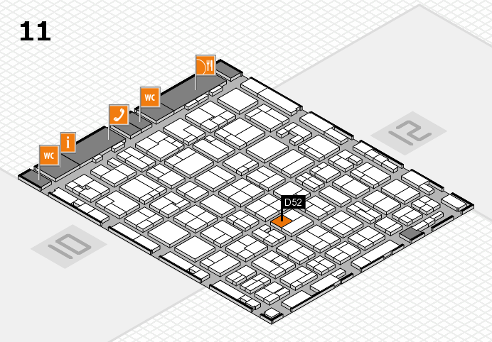 MEDICA 2016 hall map (Hall 11): stand D52