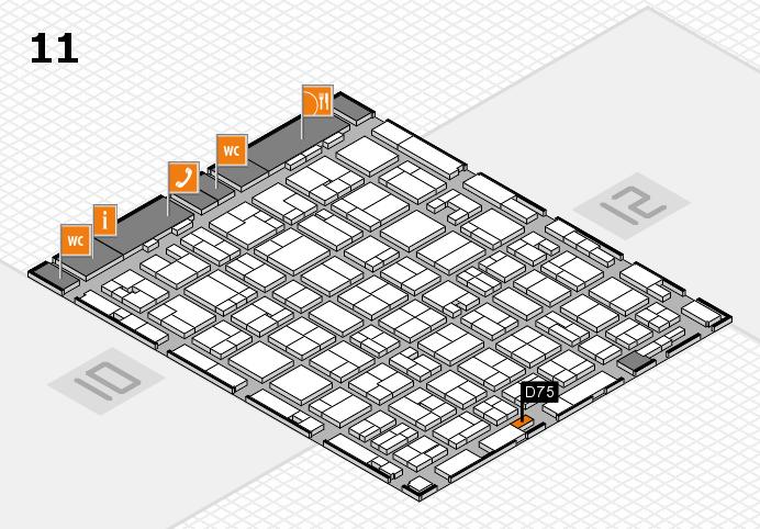 MEDICA 2016 hall map (Hall 11): stand D75