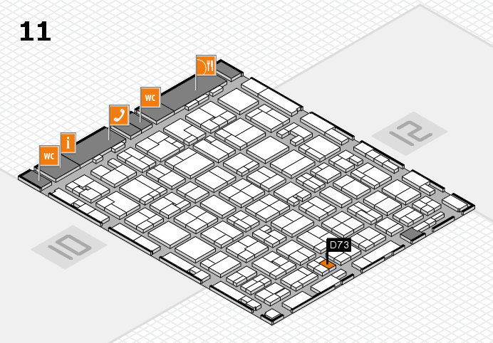 MEDICA 2016 hall map (Hall 11): stand D73