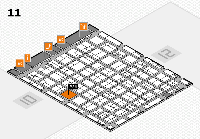 MEDICA 2016 hall map (Hall 11): stand B39