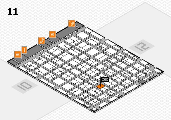 MEDICA 2016 Hallenplan (Halle 11): Stand C60